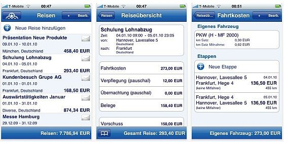 Wir sind in Deutschland: Reisekosten abrechnen mit dem iPhone