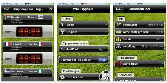 WM Tippspiel 1.0: Fußball-Fans tippen die Ergebnisse auf dem iPhone!