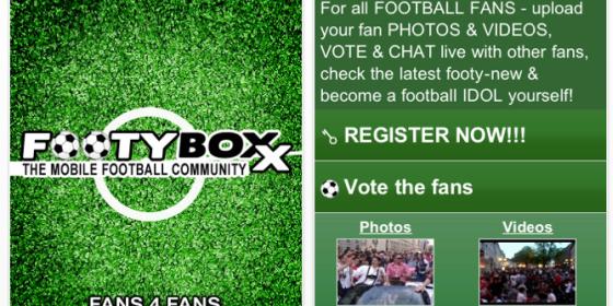 FOOTYBOXX-fans 4 fans: Kostenlose iPhone App für richtige Fußball-Fans