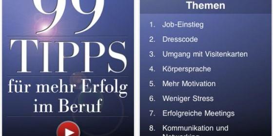"""Business-App """"99 Tipps für mehr Erfolg im Beruf"""" nur noch für kurze Zeit zum Aktionspreis von 79 Cent verfügbar"""