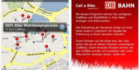 Mit der App Call-a-Bike für Dein iPhone und iPod Touch weißt Du wo das nächste Rad zu finden ist