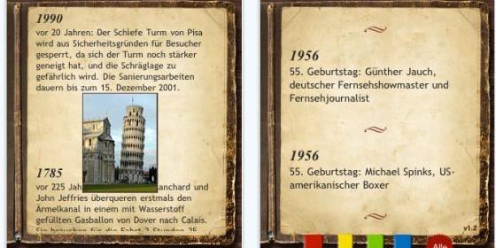 Was geschah am 15. Mai 1956? Die App Chronik für Dein iPhone und iPod Touch sagt es Dir!