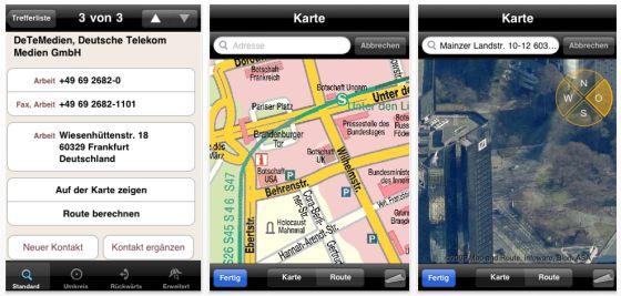 Mit der kostenlosen App Das Telefonbuch von der Telekom alle Nummern mobil dabei