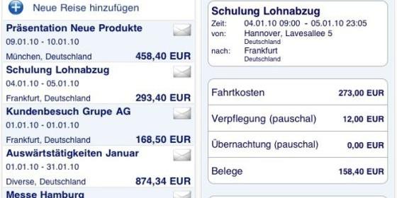 Behalte Deine Reisekosten im Überblick mit DATALINES Reisekosten-App für Dein iPhone und iPod Touch