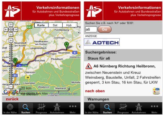 Mit StauMobil für Dein iPhone und iPod Touch kostenlos jedes Verkehrschaos umgehen