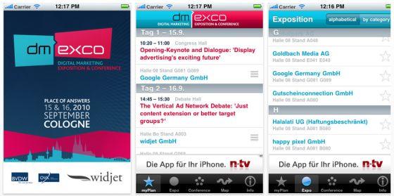 Alle Infos zur diesjährigen dmexco vom 15. bis 16. September in Köln mit der kostenlosen Messe-App für Dein iPhone und iPod Touch