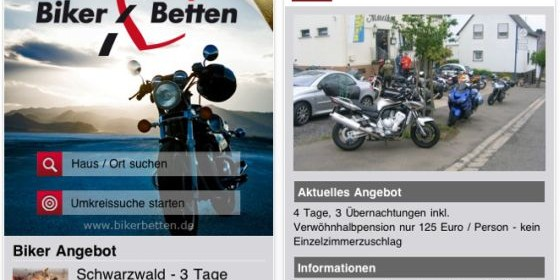 Born to be Wild – Mit der kostenlosen App bikerbetten für Dein iPhone und iPod Touch finden auch Motorradreisende von unterwegs aus die passende Übernachtungsmöglichkeit