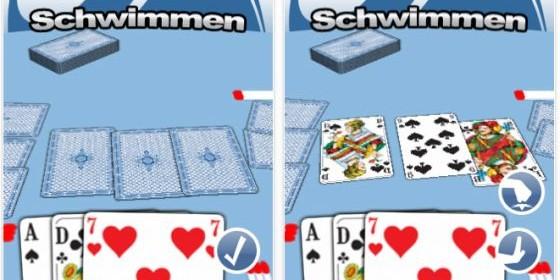Hole Dir mit Schwimmen eines der beliebtesten Kartenspiele auf Dein iPhone und iPod Touch
