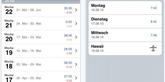 Schnell und einfach Überstunden und Arbeitszeit erfassen mit WorkTimes für Dein iPhone und iPod Touch