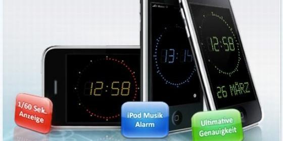 Die App AtomUhr für Dein iPhone, iPod Touch und iPad zeigt Dir immer die genaue Uhrzeit an