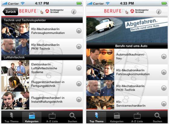 Agentur für Arbeit bietet mit der kostenlosen App BERUFE.TV Unterstützung bei der Berufswahl
