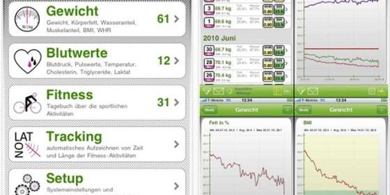 Nutze Dein iPhone und iPod Touch mit iBody als persönlichen Fitnessmanager und Gesundheitsberater