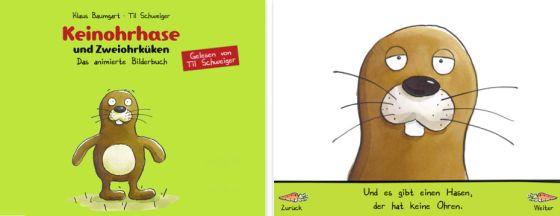 Keinohrhase und Zweiohrküken als animiertes Bilderbuch