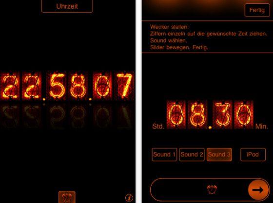TIOnixie Screenshot der deuteschen App, Apps auf deutsch s