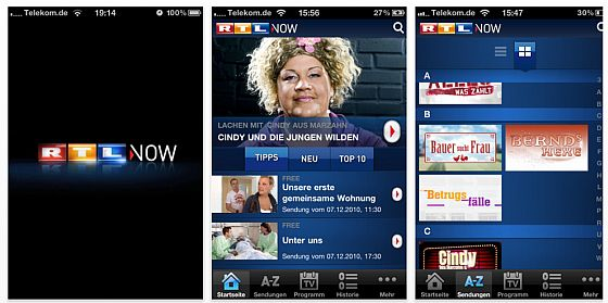 RTL Now App für iuPad, iPhone und iPod Touch