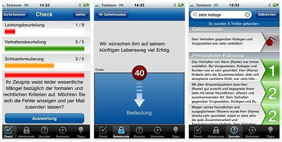 Zeugniss-App von Haufe