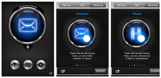 Mit der App Listen2Mail E-Mails auf iPhone, iPod Touch oder iPad hören statt lesen