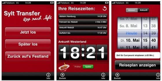 Neue App Sylt Transfer berechnet deine Ankunftszeit auf iPhone und iPod Touch