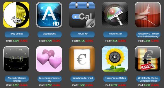 iPad Apps Aktion von vieda
