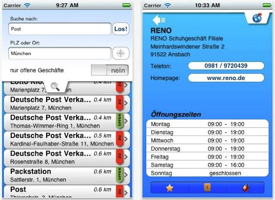Öffnungszeiten App