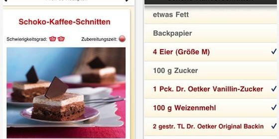 Jeden Tag ein tolles Gericht mit der kostenlosen App Dr. Oetker Rezeptideen