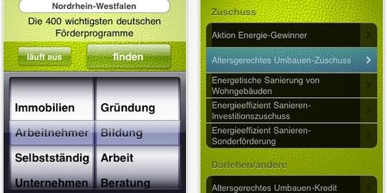 Mit dieser Universal App das richtige Fördergeld finden und beantragen
