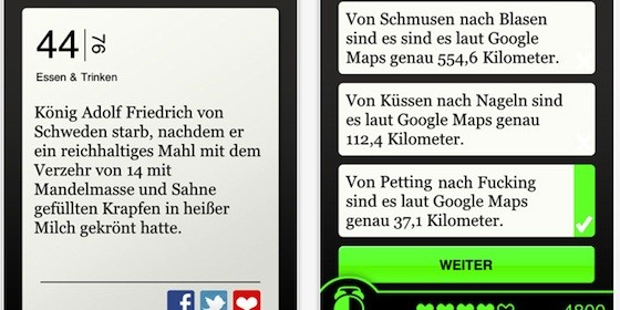 Amüsante Tatsachen mit der App NEON – Unnützes Wissen für iPhone und iPod Touch