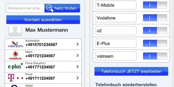 Mobilfunkanbieter finden per NetzFinder für iPhone und iPad