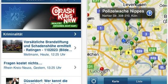 Mit der App Polizei NRW für iPhone und iPad immer sicher unterwegs in NRW