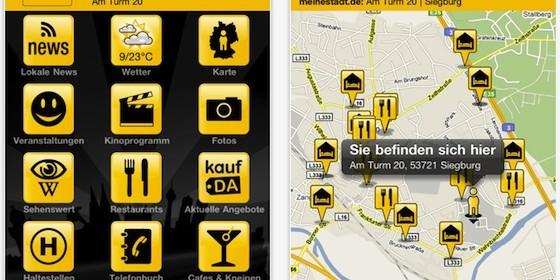 Alle Infos zu Deiner Stadt mit der kostenlosen App meinestadt.de für iPhone und iPod Touch