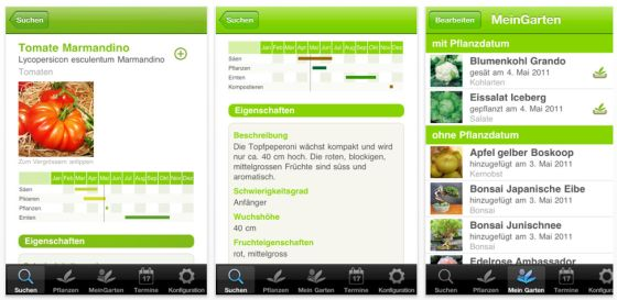 Der grüne Daumen für iPhone, iPod Touch und iPad