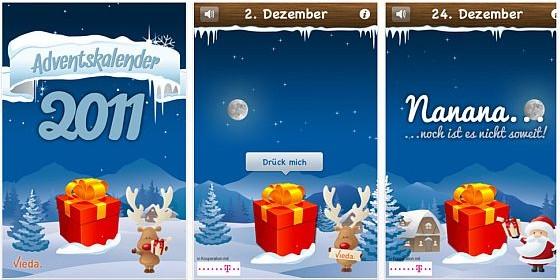 Gratis-App Adventskalender von vieda: 120 iPhone- und iPad-Rabattaktionen bis Weihnachten