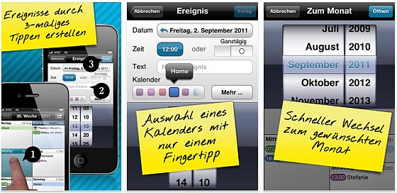 Easy Calender iPhone Kalender-App Screenshot