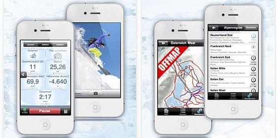 GPS Ski – Offmap Navigation und Tracker für die Alpen: Neue Ski-App zum Einführungspreis von nur 1,59 Euro