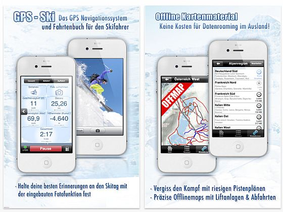 GPS Ski App für iPhone Screenshots