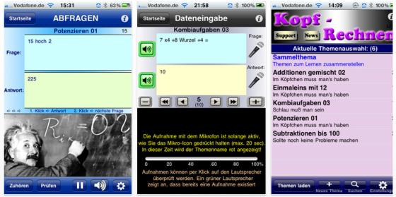 Mathe Genie Kopfrechnen-App für iPhone und iPod Touch von Josef Karl