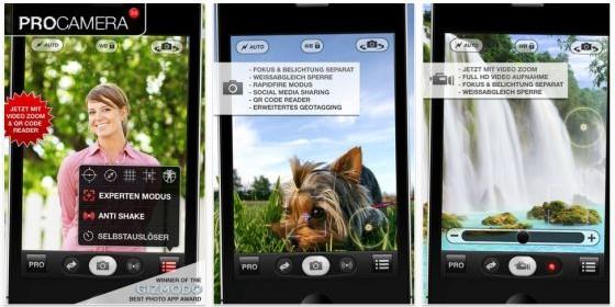 Foto-App ProCamera für das iPhone zum Start der Europameisterschaft auf 79 Cent gesenkt