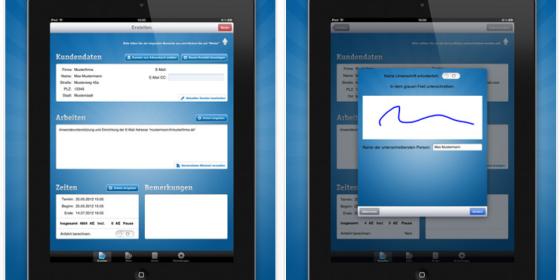ServiceBeleg für Handwerker und IT-Techniker: Universal-App für iPhone & iPad füllt Laufzettel vor Ort aus