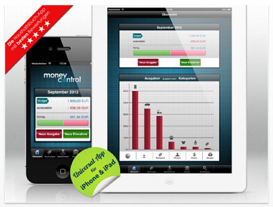Money Control Screenshot der Haushaltsbuch-App für iPhone und iPad