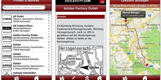 Gratis-App für iPhone, iPod Touch und iPad zeigt den Weg zu tausend Fabrikverkäufen