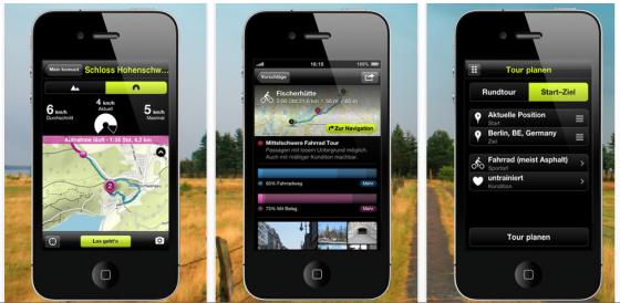 komoot Navigations-App für radfahrer, Wanderer und Mountainbiker