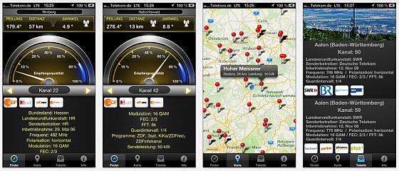 """Erstes iPhone-Tool für das """"Überallfernsehen"""" richtet DVB-T Antennen aus"""