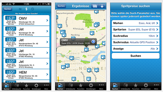 mehr tanken App Screenshots