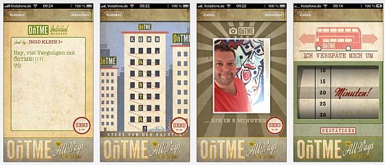 Neue App für Verspätungs-Mitteilungen per iPhone und iPod Touch OñTME
