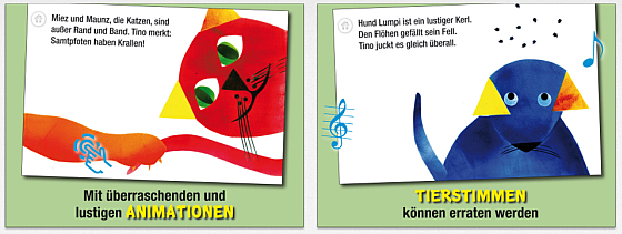 Tino Das Dreieck Kinderbuch-App Screenshots