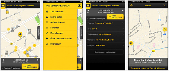Taxi Deutschland Screens