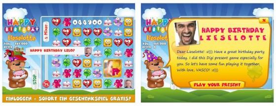Mit Digipresents kannst Du Freunde mit kleinen personalisierten Spielen überraschen.