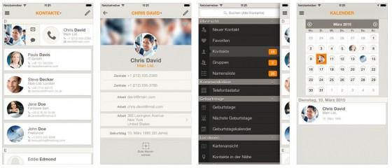 Aufgeräumte und gute Darstellung der Kontakte mit zahlreichen Zusatzfunktionen, das ist Contaqs für iPhone und iPad.