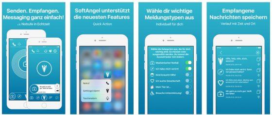 Hilfe aus der direkten Umgebung holen - mit der App Softangel funktioniert das über Bluetooth LE - allerdings nur im Umkreis von wenigen Metern.