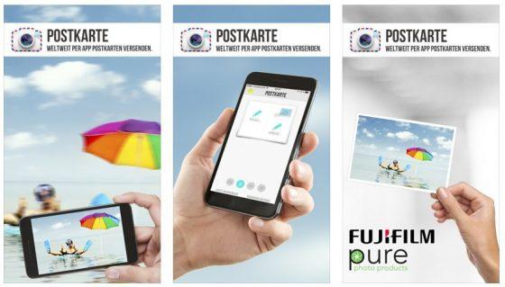 Mit der App Postkarte verschickst Du richtige Postkarten mit eigenem Bild zum fairen Preis.